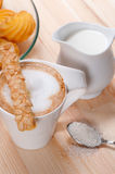 Fresh breakfast coffee and pastry Stock Image