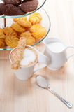 Fresh breakfast coffee and pastry Stock Photo