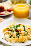 Fresh Breakfast Food. Eggs And Orange Juice. Royalty Free Stock Photography