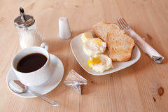 Fresh breakfast of fried eggs Royalty Free Stock Photos