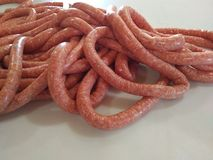Fresh breakfast sausage. Making fresh breakfast sausage Royalty Free Stock Photo