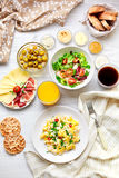Fresh Breakfast Table. Healthy Food. Top View. Royalty Free Stock Images