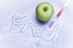Fresh breath and dental care Royalty Free Stock Photo