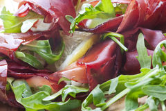 Fresh Bresaola Salad Royalty Free Stock Images