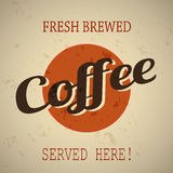 Fresh Brewed Coffee Grunge Background Royalty Free Stock Photo