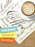 Fresh brewed coffee poster Stock Images