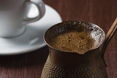 Fresh brewed coffee in turku. Royalty Free Stock Photos