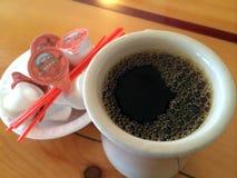 Fresh brewed dark coffee Royalty Free Stock Photo