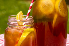 Fresh Brewed Ice Tea on the Patio Royalty Free Stock Photo