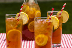Fresh Brewed Ice Tea on the Patio Royalty Free Stock Photography