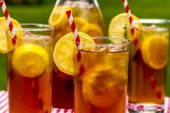 Fresh Brewed Ice Tea on the Patio Stock Image