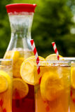 Fresh Brewed Ice Tea on the Patio Royalty Free Stock Photos