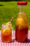 Fresh Brewed Ice Tea on the Patio Royalty Free Stock Image