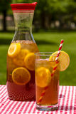 Fresh Brewed Ice Tea on the Patio Royalty Free Stock Images