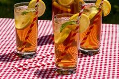 Fresh Brewed Ice Tea on the Patio Royalty Free Stock Photo