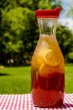 Fresh Brewed Ice Tea on the Patio Stock Photography