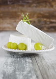Fresh brie cheese Royalty Free Stock Photos