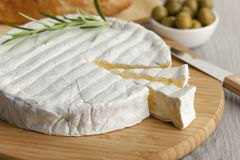 Fresh Brie cheese Royalty Free Stock Images