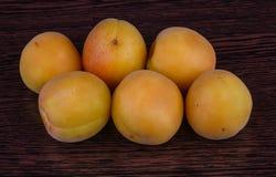 Fresh bright apricots Stock Photo