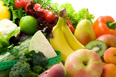Fresh, bright fruit and vegetables Stock Photo