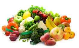 Fresh, bright fruit and vegetables Royalty Free Stock Photography