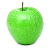 Fresh bright green apple. Isolated on white Stock Image