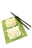 Fresh bright mung bean sprouts Stock Photos