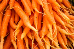 Fresh carrots at the market Stock Photo