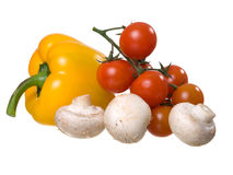 Fresh and bright vegetables Stock Images