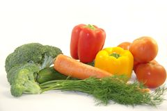 Fresh bright vegetables Royalty Free Stock Images