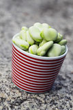 Fresh broad beans Royalty Free Stock Photo