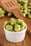 Fresh broad beans Stock Images
