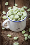 Fresh broad beans Stock Photography