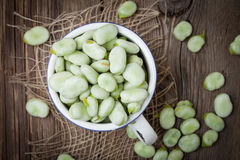 Fresh broad beans Royalty Free Stock Image