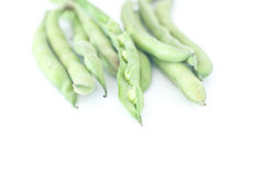 Fresh broad beans ready to be cooked Stock Photos