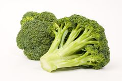 Fresh broccoli. On white background royalty free stock photography