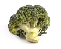 Fresh broccoli. On a white Stock Images
