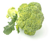 Fresh Broccoli. Broccoli is high in vitamin C, as well as dietary fiber; it also contains multiple nutrients with potent anti-cancer properties, such as royalty free stock photo