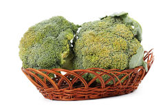 The Fresh broccoli in basket Stock Images