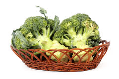 The Fresh broccoli in basket Royalty Free Stock Images