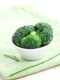 Fresh broccoli in bowl Stock Photography