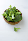 Fresh broccoli in bowl Royalty Free Stock Photos