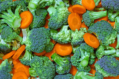 Fresh broccoli and carrots Stock Image