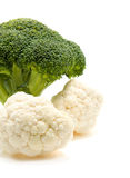 Fresh broccoli and cauliflower Stock Photos