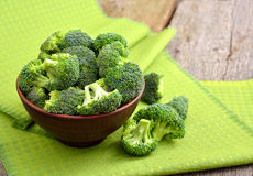 Fresh broccoli in a ceramic bowl Stock Images