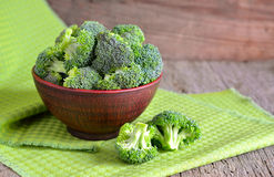 Fresh broccoli in a ceramic bowl Royalty Free Stock Images