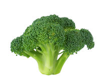 Fresh broccoli close-up on a white Stock Images