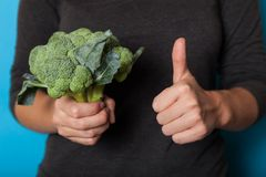 Fresh broccoli diet food, antioxidant vegetable royalty free stock image