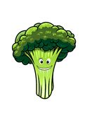 Fresh broccoli with a happy face Royalty Free Stock Photos