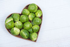 Fresh broccoli in heart shape Royalty Free Stock Photography